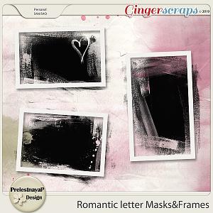 Romantic letter Masks&Frames