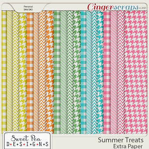 Summer Treats Extra Paper