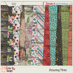Amazing Mom Wood Papers