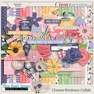 Choose Kindness Kit by Luv Ewe Designs and Blue Heart Scraps