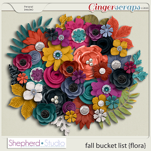 Fall Bucket List Flora for Digital Scrapbooking by Shepherd Studio