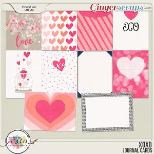XOXO - Journal Cards - by Neia Scraps