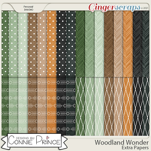 Woodland Wonder - Extra Papers by Connie Prince