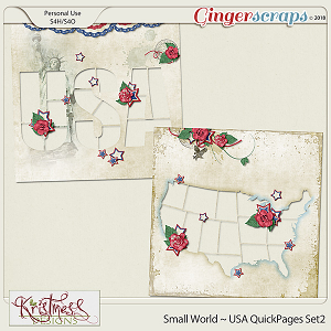 Small World ~ USA QuickPages Set2