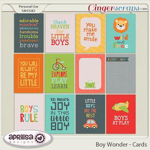 Boy Wonder - Cards by Aprilisa Designs