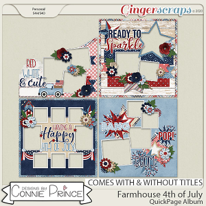 Farmhouse 4th of July - Quick Pages by Connie Prince