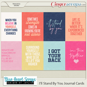 I'll Stand By You Journal Cards
