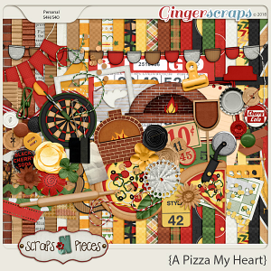 A Pizza My Heart kit by Scraps N Pieces