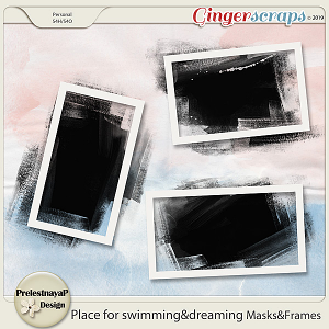 Place for swimming&dreaming Masks&Frames