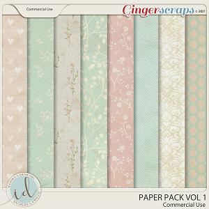 CU Paper Pack Vol 1 by Ilonka's Designs