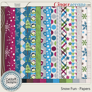 Snow Fun - Papers  by CathyK Designs