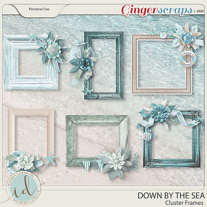 Down By The Sea Cluster Frames by Ilonka's Designs