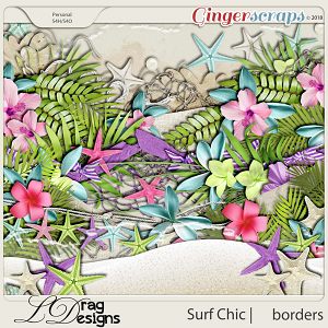 Surf Chic: Borders by LDragDesigns