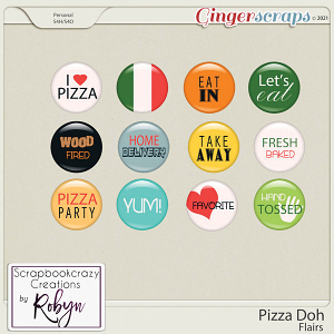 Pizza Doh Flairs by Scrapbookcrazy Creations