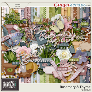 Rosemary and Thyme Page Kit by Aimee Harrison
