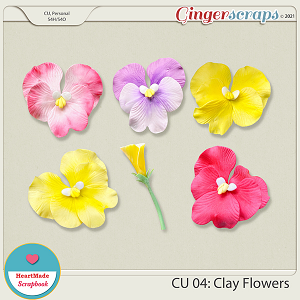 CU 04 - Clay flowers