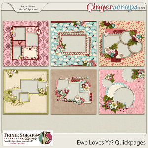 Ewe Loves Ya? Quickpages by Trixie Scraps Designs