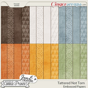 Tattered Not Torn - Embossed Papers