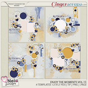 Enjoy The Moments - Templates VOL.13 - By Neia Scraps