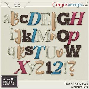 Headline News Alpha Sets by Aimee Harrison