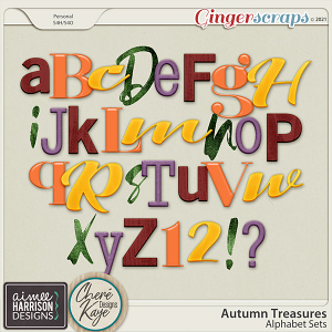 Autumn Treasures Alphas by Chere Kaye Designs and Aimee Harrison
