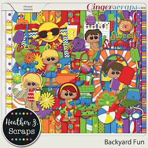 Backyard Fun KIT by Heather Z Scraps