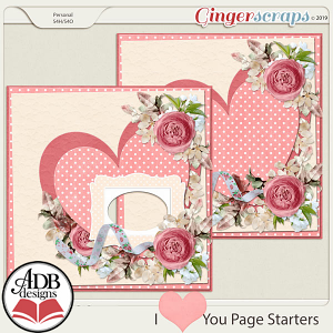 I Heart You Stacked Paper & Quick Page Gift 01 by ADB Designs