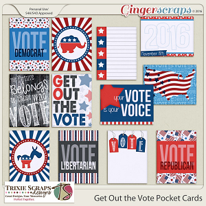 Get Out the Vote Pocket Cards by Trixie Scraps Designs