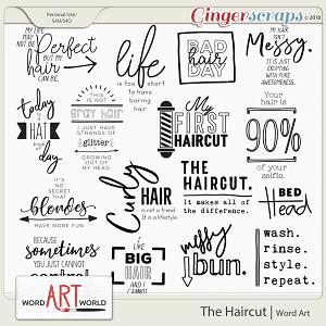 The Haircut Word Art