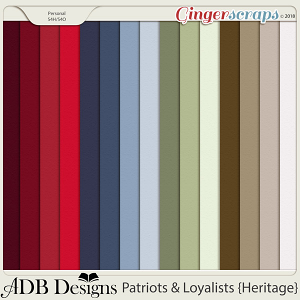 Patriots And Loyalists Cardstock Solids by ADB Designs