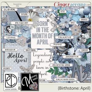 Birthstone: April by Polka Dot Chicks & Memory Mosaic
