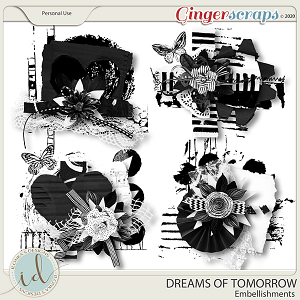 Dreams Of Tomorrow Embellishments by Ilonka's Designs