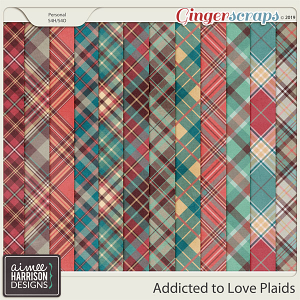 Addicted to Love Plaid Papers by Aimee Harrison