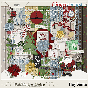 Hey Santa Digital Scrapbook Kit by Dandelion Dust Designs