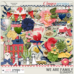 We Are Family - Elements - by Neia Scraps