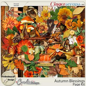 Autumn blessings Kit by PrelestnayaP Design and CarolW Designs
