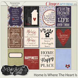 Home Is Where The Heart Is Journal and Pocket Scrap Cards
