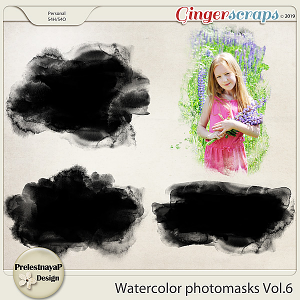 Watercolor photomasks Vol.6