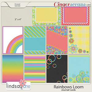 Rainbows Loom Journal Cards by Lindsay Jane