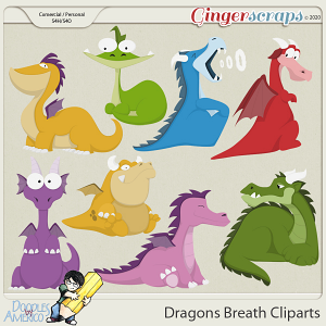 Doodles By Americo: Dragons Breath Cliparts