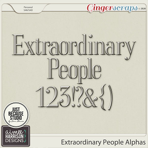 Extraordinary People Alpha Set by Aimee Harrison and JB Studio