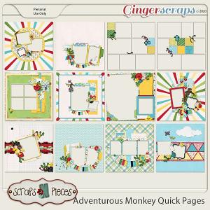 Adventurous Monkey Quick Pages by Scraps N Pieces