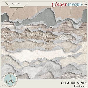 Creative Minds Torn Papers by Ilonka's Designs
