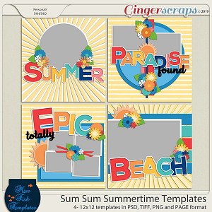 Sum Sum Summertime Templates by Miss Fish