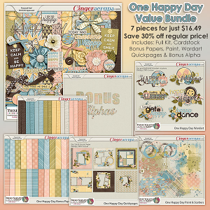 One Happy Day Value Bundle by Trixie Scraps Designs