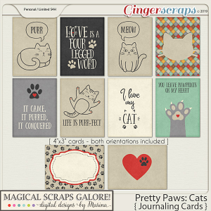 Pretty Paws: Cats (journaling cards)