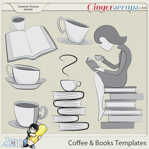 Doodles By Americo: Coffee And Books Templates