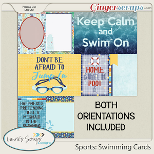 Sports: Swimming Journal Cards