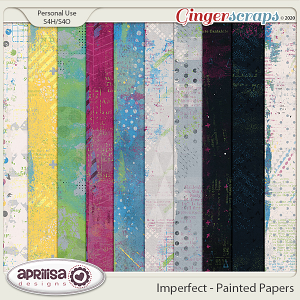 Imperfect - Painted Papers by Aprilisa Designs