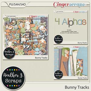 Bunny Tracks BUNDLE by Heather Z Scraps